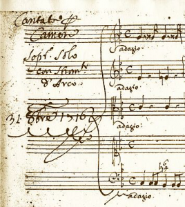 From the autograph mss of Scarlatti's 'Ombra tacita e sola'
